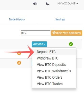 CoinExchange 送金方法