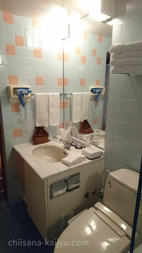 【帯広】北海道ホテルの客室(トイレ・洗面台)