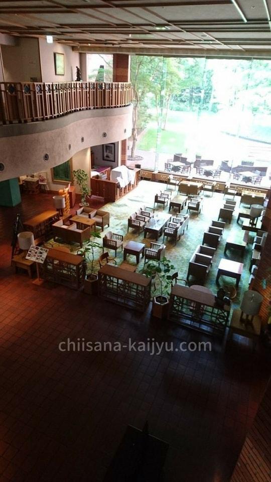 【帯広】北海道ホテル 2階から見下ろしたロビー
