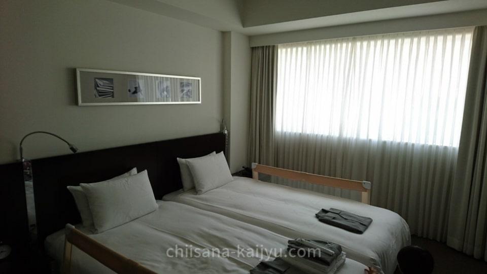 クロスホテル札幌の客室 ベッド