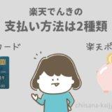 楽天でんきの支払い方法はクレジットカード・楽天ポイントの2種類!デビットカードは使えない